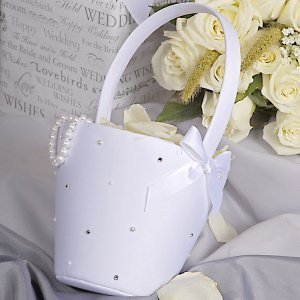 Sparkling Starlight Flower Girl Basket image