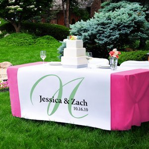 Personalized Elegance Table Runner (17 Colors) image