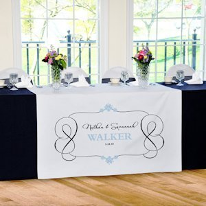 Timeless Design Personalized Table Runner (17 Colors) image