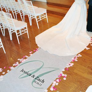 Personalized Wedding Runners - Elegance Design image