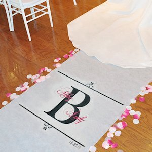 Personalized Wedding Ceremony Aisle Runners - Regal Design image