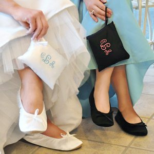 Satin Ballet Slippers with Personalized Pouch (2 Colors) image