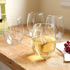 Personalized Stemless Wine Glass Set of 4 image