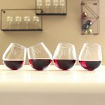 Tipsy Wine Glasses (Set of 4)