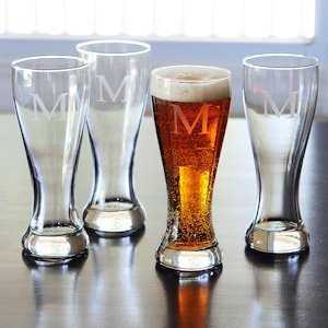 Personalized Pilsner Glasses (Set of 4) image