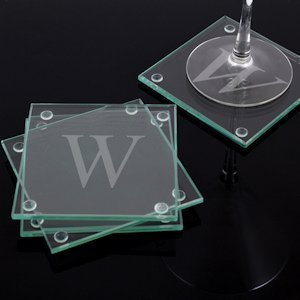 Engraved Glass Coasters (Set of 4) image