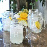 Personalized Old Fashioned Drinking Glasses (Set of 4)