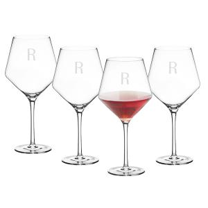 Personalized 23 oz. Red Wine Estate Glasses Set of 4 image