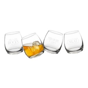 With a Twist Tipsy Whiskey Glasses image