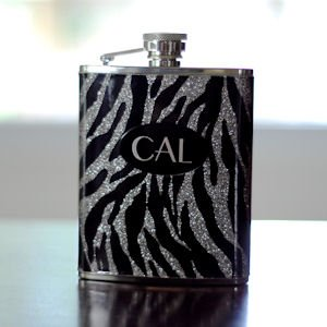 Personalized Zebra Flask image