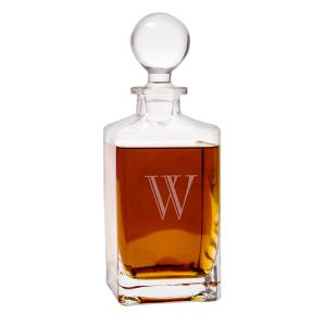 Personalized 32 oz. Square Whiskey Decanter image