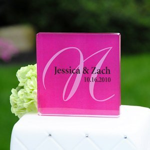 Elegance Personalized Cake Topper (17 Colors) image