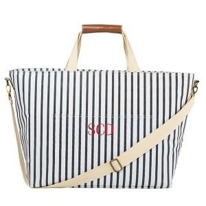 Personalized Striped Large Cooler Tote image