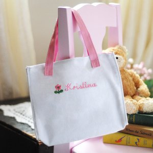 Personalized Flower Girl Tote Bag image