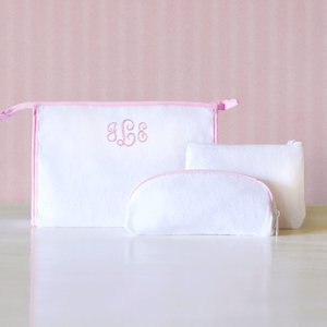 Personalized 3 Piece Cosmetic Bag Set image