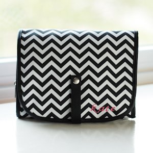 Chevron Cosmetic Bag - Grooming Set Included image
