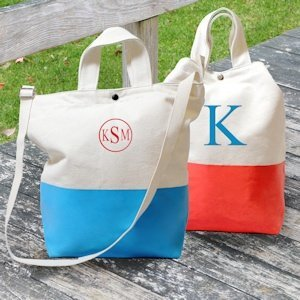 Color Dipped Canvas Totes image