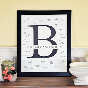Custom Initial Signature Guest Book Frame image