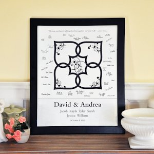 Blended Family Custom Signature Guest Book Frame image