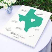 Personalized Home State Wrapped Canvas Guest Book