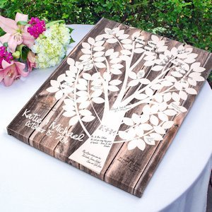 Our Family Tree Gallery Wrapped Canvas Guest Book image