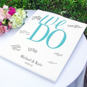 Personalized Vows Wrapped Canvas Guest Book image