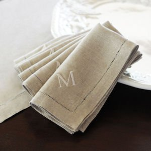 Linen Hemstitch Napkins (Set of 6) image
