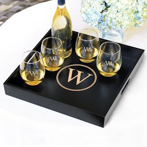 Personalized Wooden Serving Tray image