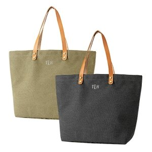 Personalized Washed Canvas Tote image