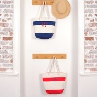 Personalized Striped Canvas Totes (2 Colors)