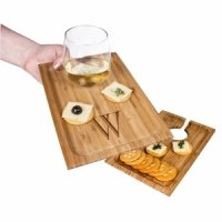 Personalized Bamboo Wine & Dine Appetizer Trays