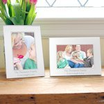Personalized Beaded Silver Picture Frames