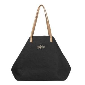 Personalized Black Overnight Tote image