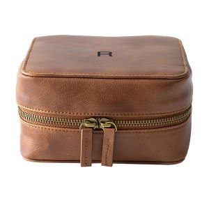 Personalized Brown Travel Tech Case image