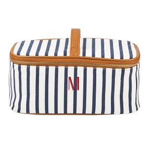 Personalized Striped Cosmetic Case image