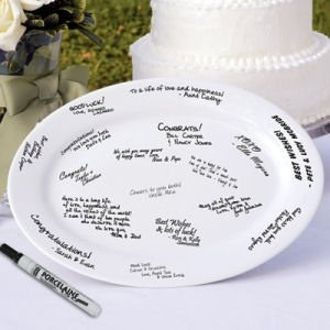 Porcelain Wedding Signature Platter Guest Book image