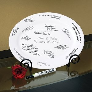 Personalized Guest Book Platter & Easel image