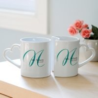 Personalized Initial Wedding Mug Set