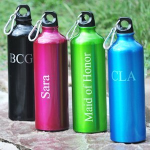 Personalized Aluminum Water Bottles - 4 Colors image