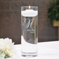 Personalized Glass Vase & Floating Unity Candle