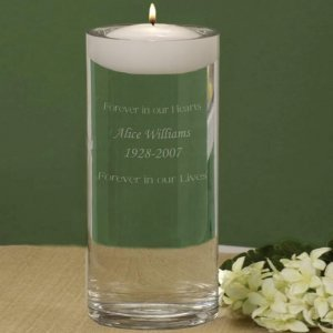 Personalized Wedding Memorial Vase & Remembrance Candle image