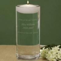 Personalized Wedding Memorial Vase & Remembrance Candle