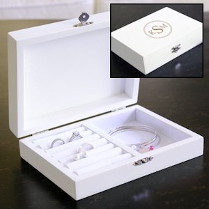 Wooden Personalized Jewelry Box for Bridesmaids image