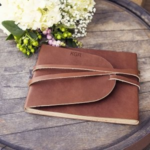 Personalized Leather Guest Book Journal image