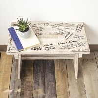 Personalized Rustic Wooden Guest Book Bench
