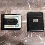 Personalized Leather Money Clip Wallet