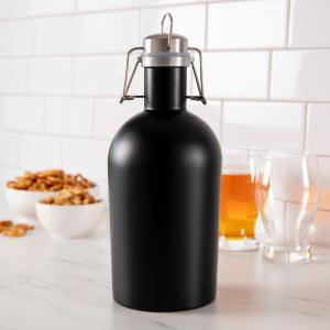 Personalized 64 oz. Black Stainless Steel Growler image