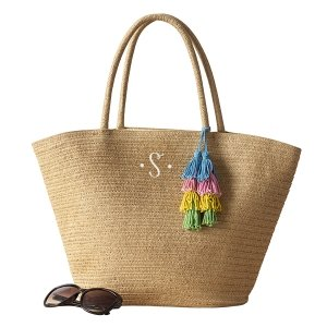 Personalized Straw Tote image