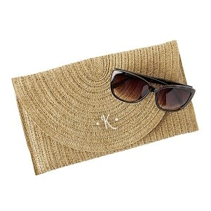 Personalized Straw Envelope Clutch image