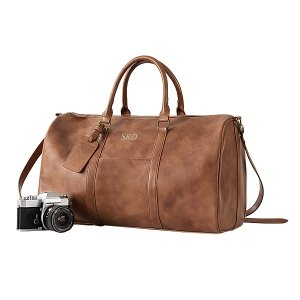 Personalized Vegan Leather Transport Duffle image